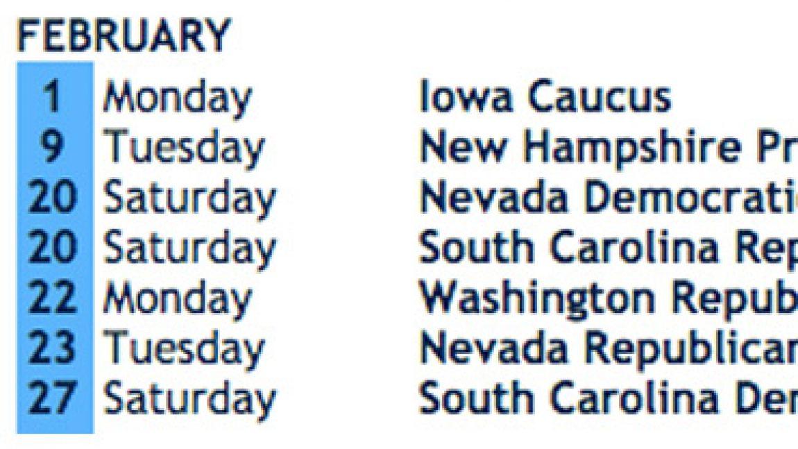 DemDaily:  Updated Presidential Primary & Caucus Calendar