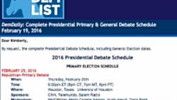 DemDaily: Complete Presidential Primary & General Debate Schedule