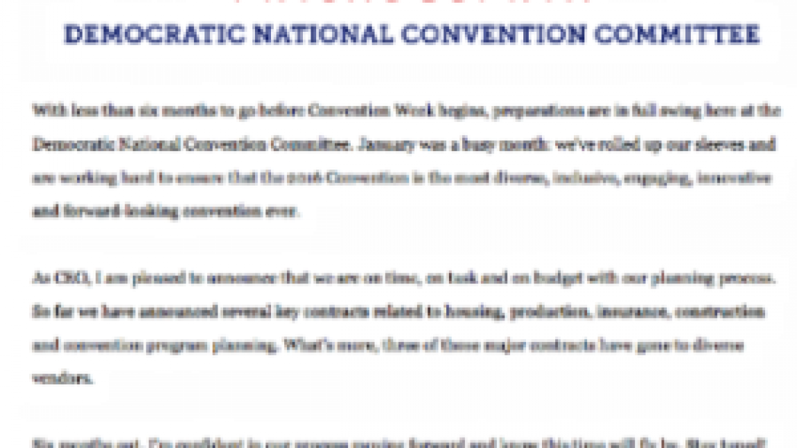DemDaily:  Convention Central!