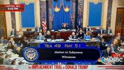 DemDaily: Senate Silences Witnesses. Trial Days Eight & Nine