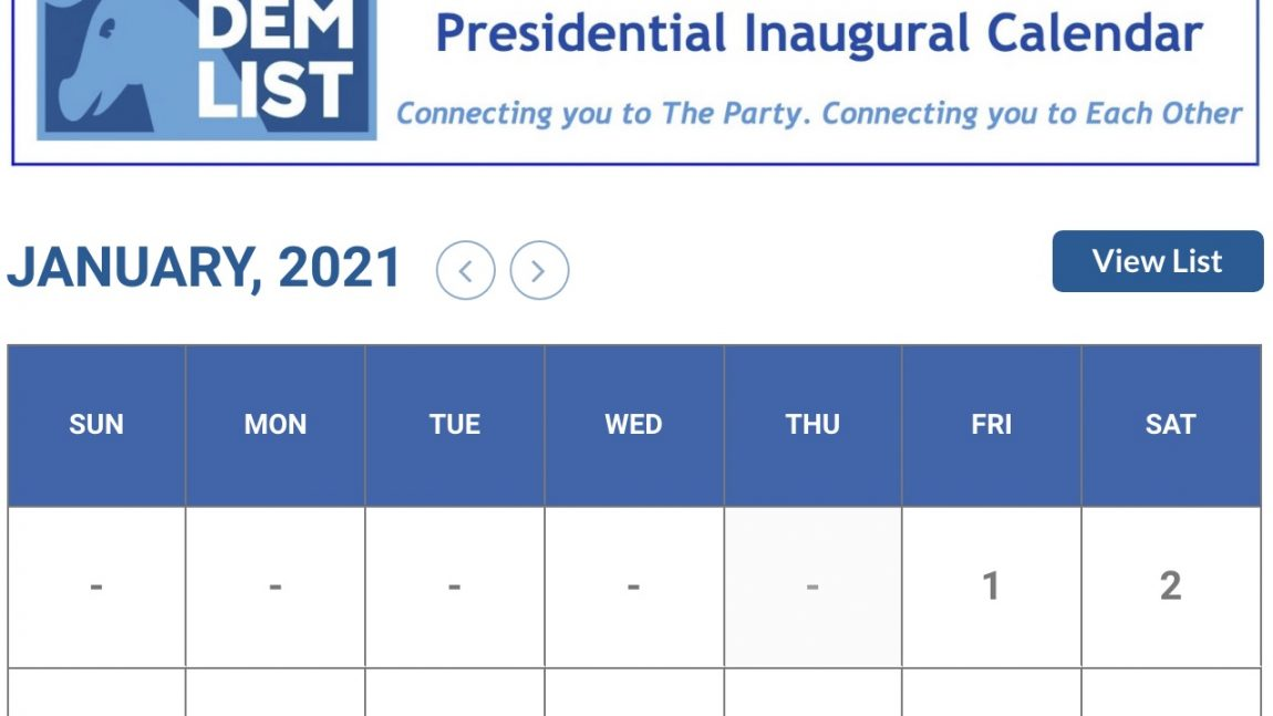 DemDaily: The Presidential Inaugural Calendar is Up!