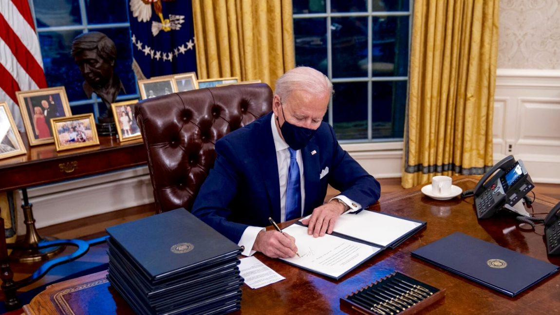 DemDaily: Reversing History. The First Orders of the Biden Aministration