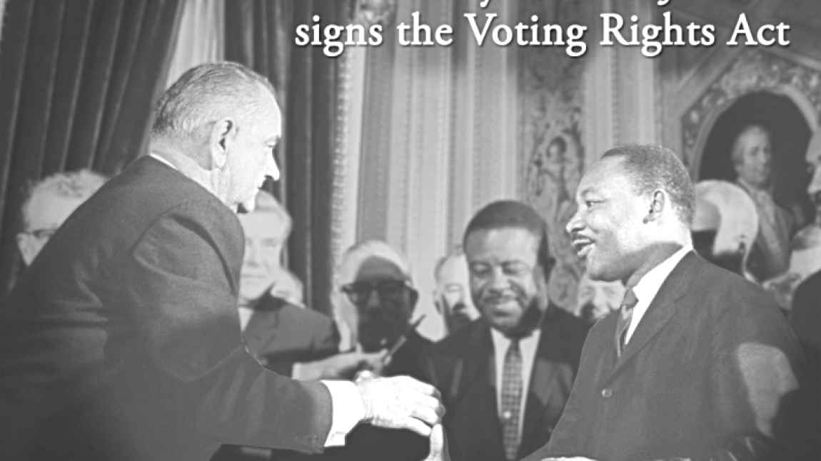 DemDaily: What is the Voting Rights Act? History, Prologue, Postscript