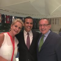Publisher Kimberly Scott with Former L.A. Mayor Antonio Villaraigosa and LLN Founder Mickey Ibarra