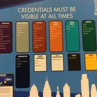 Credential Information inside the Wells Fargo Center