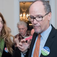 Tom Perez and Bob Bland at the Woman's National Democratic Club